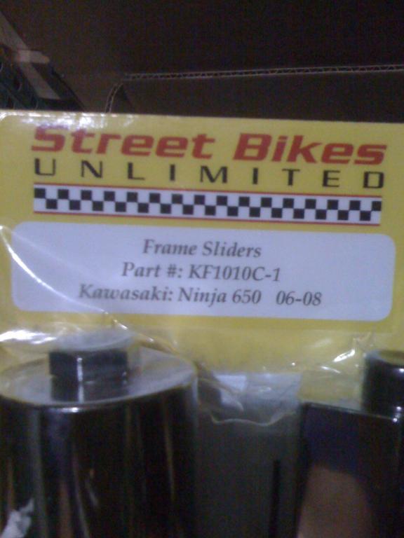 streetbikes unlimited frame sliders suck? | RiderForums com