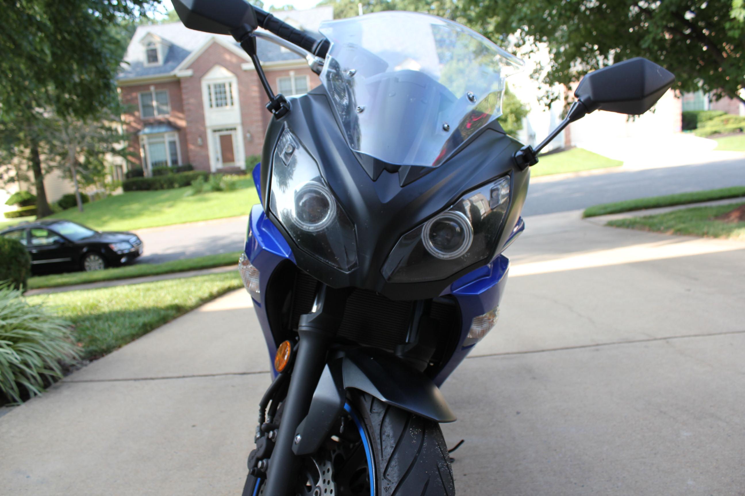 2013 ninja 650 headlight assemby with hid retrofit